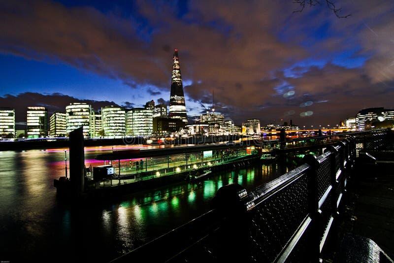 Vida nocturna de Londres foto de archivo