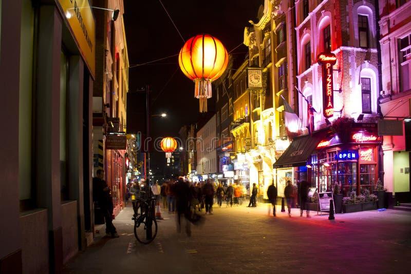 Vida nocturna de Soho en Londres, Reino Unido fotografía de archivo libre de regalías