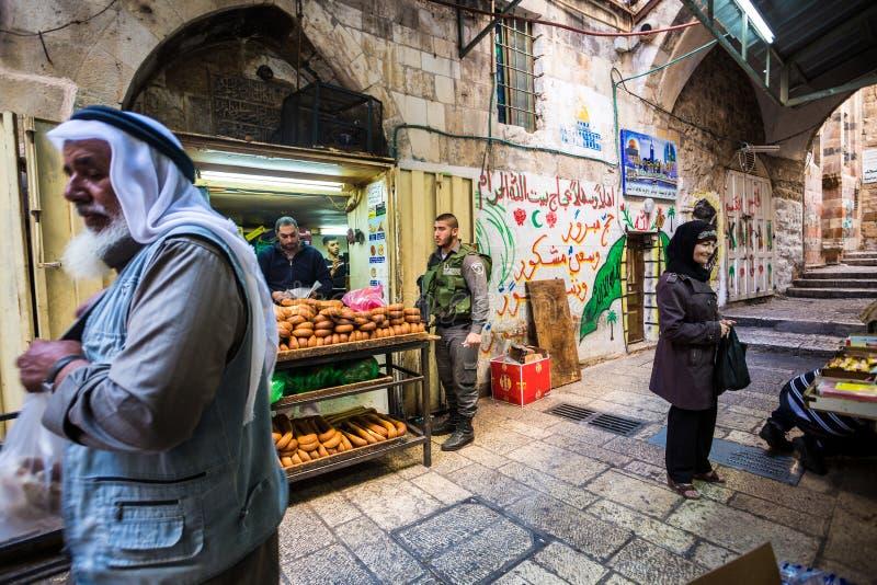 Vida normal no Jerusalém, Israel imagens de stock