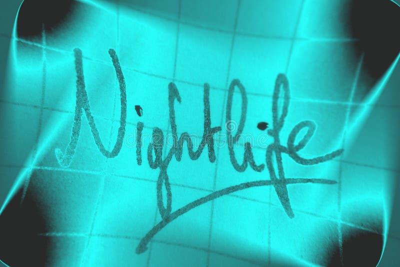 Vida noturno ilustração royalty free