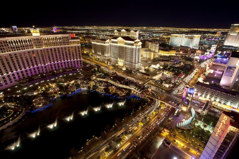 Vida noturno de Las Vegas fotografia de stock