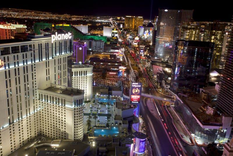 Vida noturno de Las Vegas foto de stock