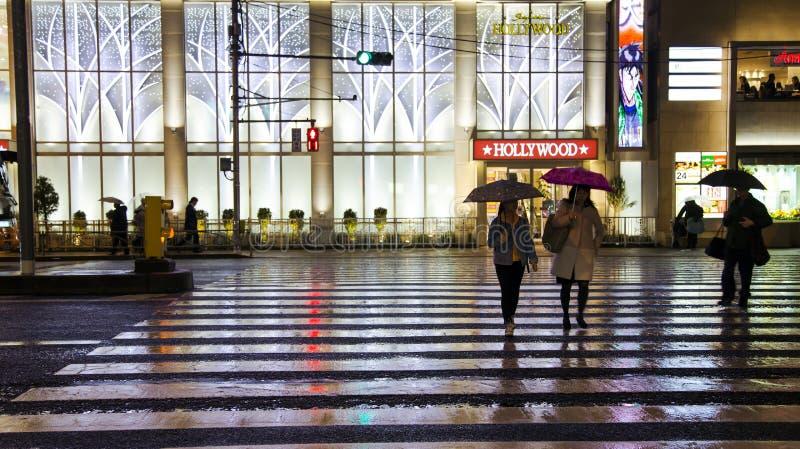 Vida noturno no Tóquio fotos de stock