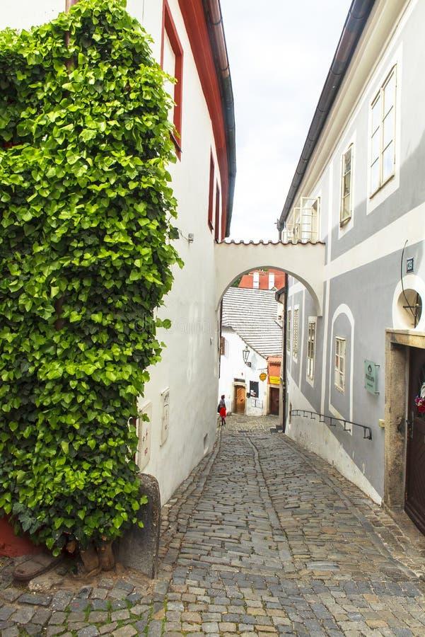 A vida, pessoa, architechture de Cesky Krumlov, Checo Áustria foto de stock royalty free