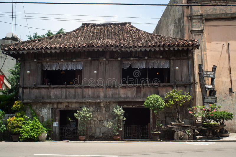 Vida quotidiana dos filipinos na cidade Filipinas de Cebu fotos de stock