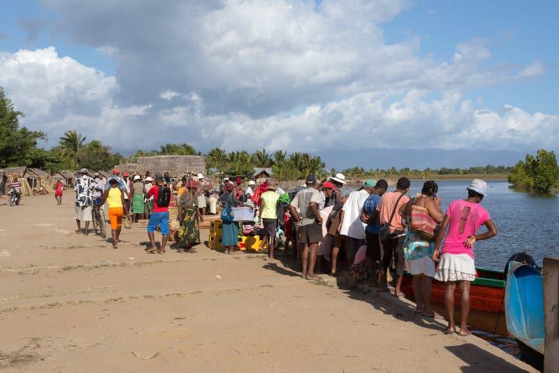 Vida quotidiana malgaxe dos povos em Madagáscar foto de stock