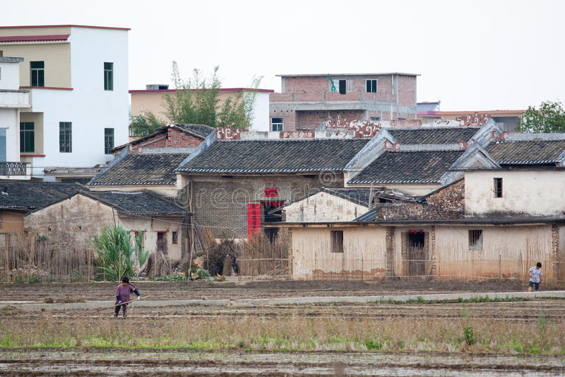Vida rural em China do sul foto de stock