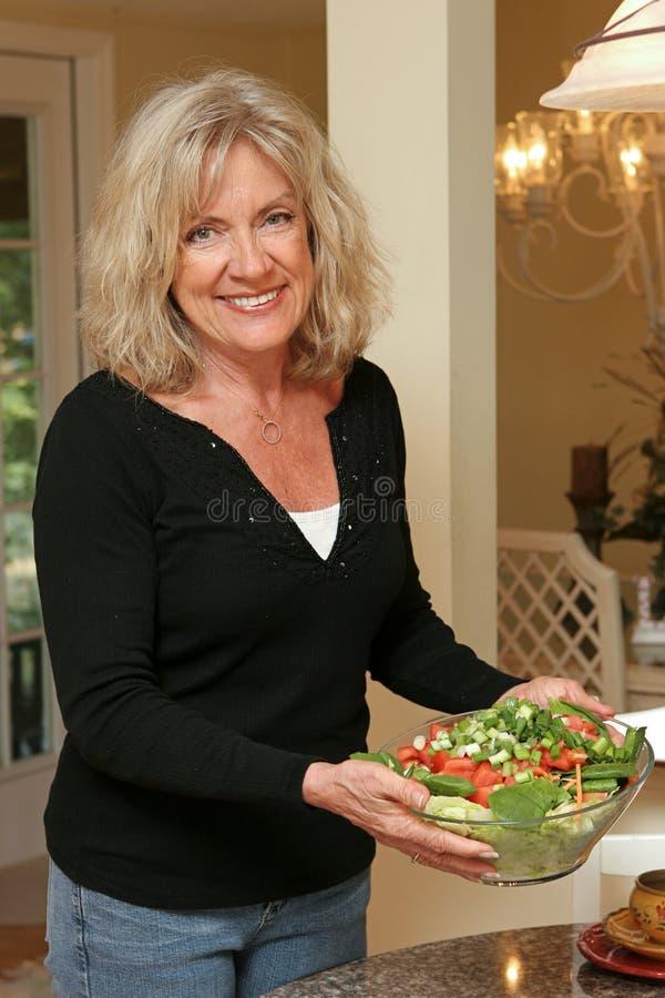 Vida saudável - salada fotografia de stock