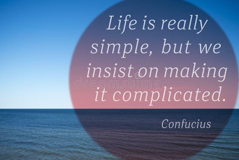 Vida simple Confucio fotografía de archivo libre de regalías