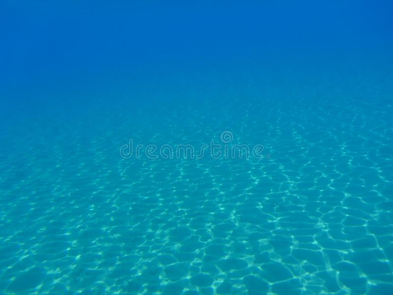 Vida subaquática na ilha Cyclades Grécia de Kythnos da baía do dobro de Kolona, Mar Egeu imagens de stock