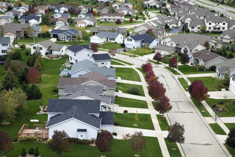 Vida suburbana foto de stock