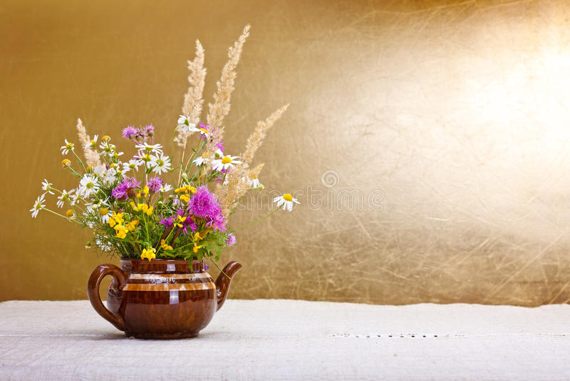 Vida Todavía De Las Flores Salvajes Fotografía de archivo libre de regalías