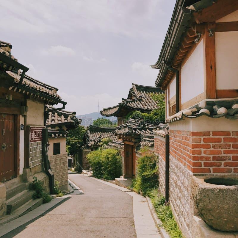 Vida tradicional de Corea fotos de archivo