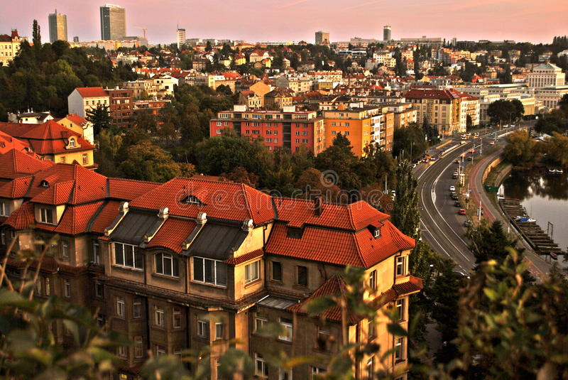 Vida urbana grande fotografia de stock