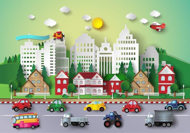 Vida urbana grande ilustração royalty free