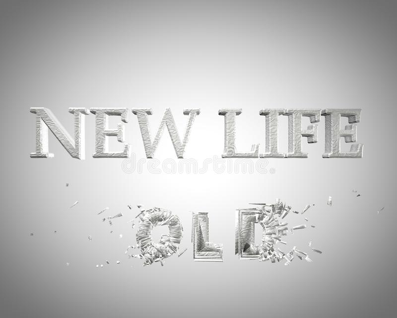 vida velha da vida nova ilustração royalty free