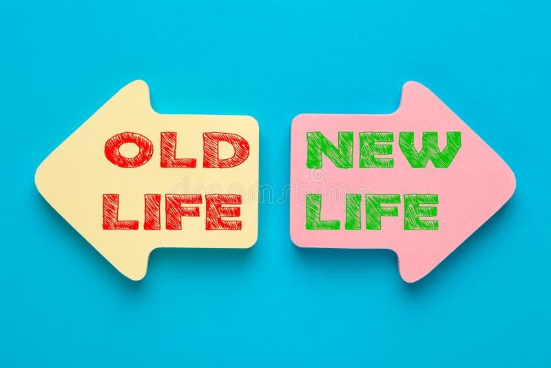 Vida velha e vida nova foto de stock