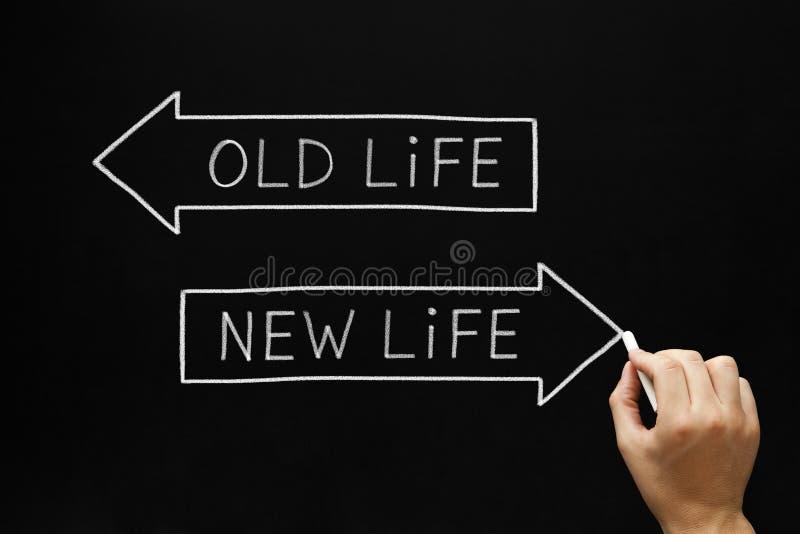 Vida velha ou vida nova foto de stock