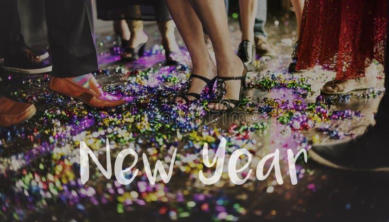 Vida viva del Año Nuevo de la celebración imagenes de archivo