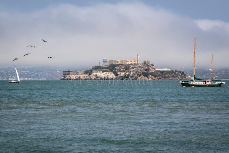 Vida y navegación San Francisco de la bahía foto de archivo libre de regalías
