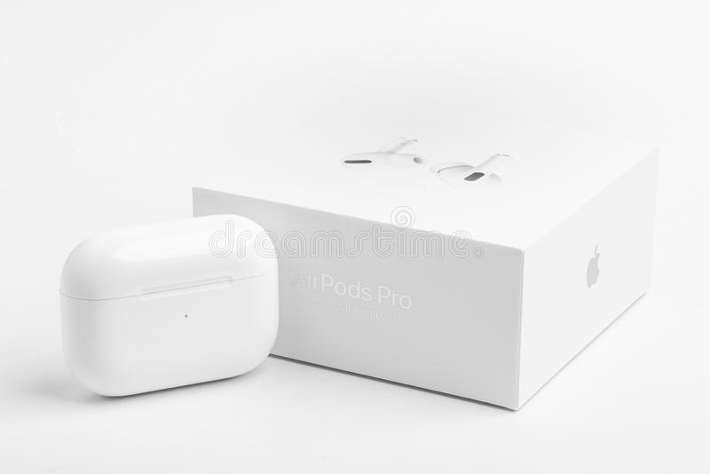 Packaging Box With Charging Case Of Apple Airpods Pro Editorial Stock Image Image Of Frequency Hearing 166914724