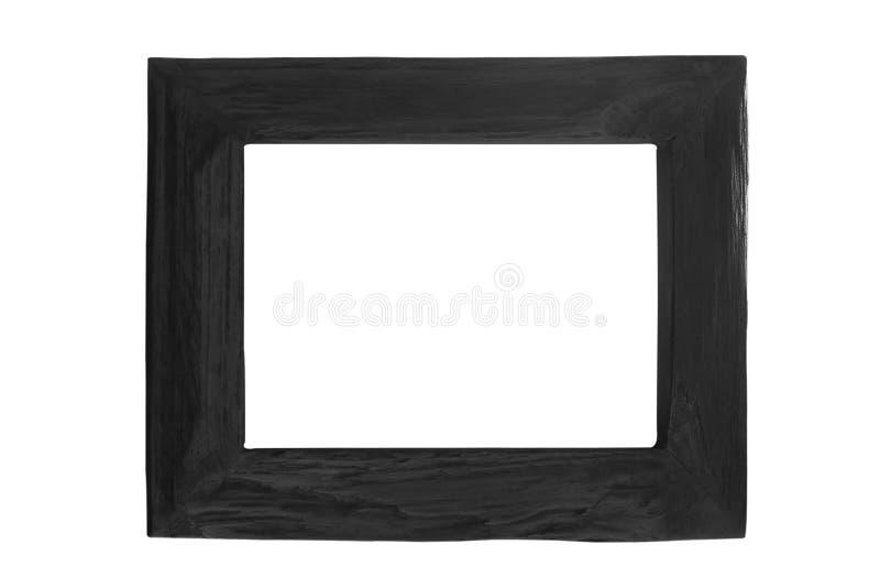 Vide noir de cadre de tableau d'isolement sur le fond blanc photos libres de droits