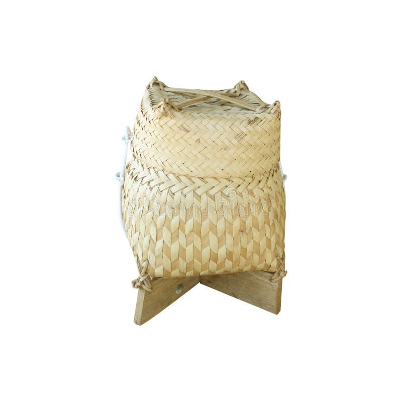 Vide- ris eller Kratip eller klibbiga ris som isoleras på vit backgroun royaltyfri fotografi