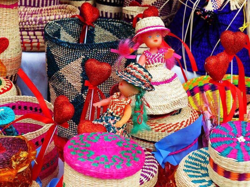 Vide- souvenir gjorde fr?n toquillasugr?r, Ecuador fotografering för bildbyråer