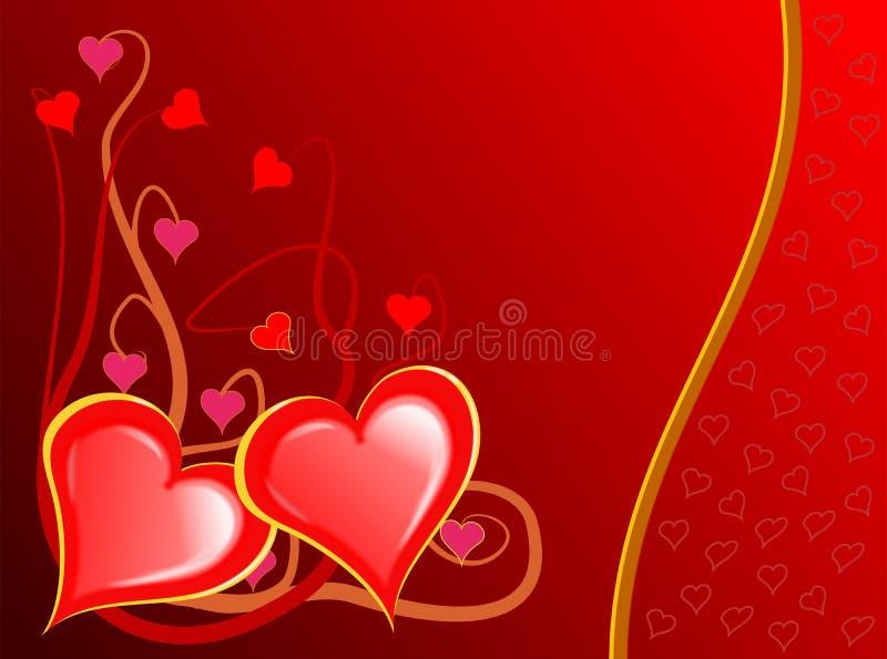 Videira dos corações dos Valentim ilustração stock