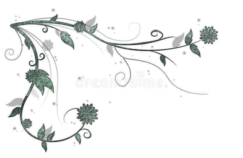 Videira floral verde ilustração stock