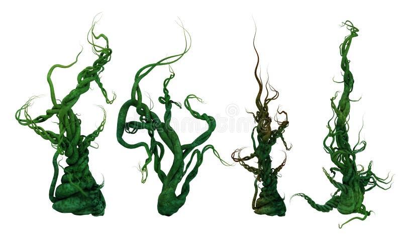 videiras crescentes da planta 3D ilustração do vetor
