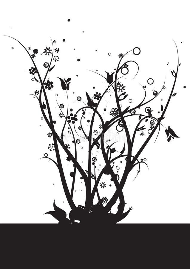 Videiras e folhas ilustração stock