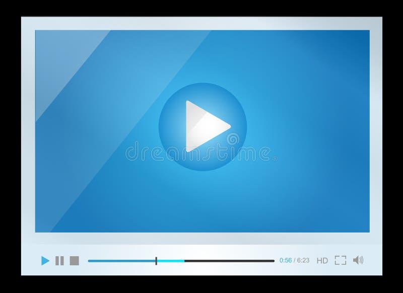 Video για τον Ιστό, minimalistic σχέδιο ελεύθερη απεικόνιση δικαιώματος