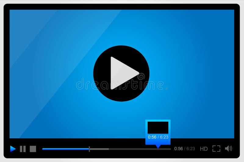 Video για τον Ιστό, minimalistic σχέδιο διανυσματική απεικόνιση