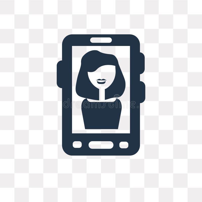 Video appellvektorsymbol som isoleras på genomskinlig bakgrund, video royaltyfri illustrationer