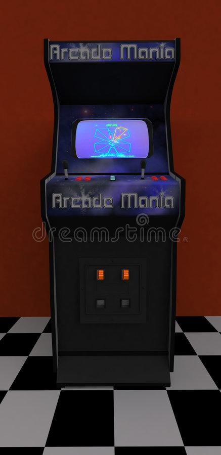 Download Video Arcade 1 stock illustration. Image of classic, entertainment - 5429000