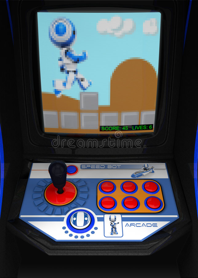 Download Video arcade stock illustration. Image of system, console - 8042328