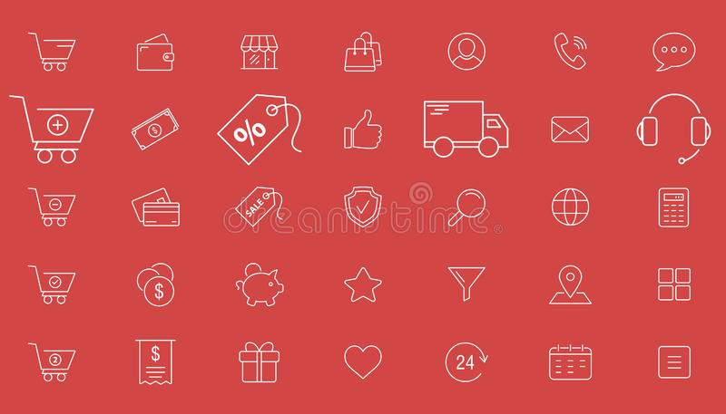 Shopping icons 01 stock illustration
