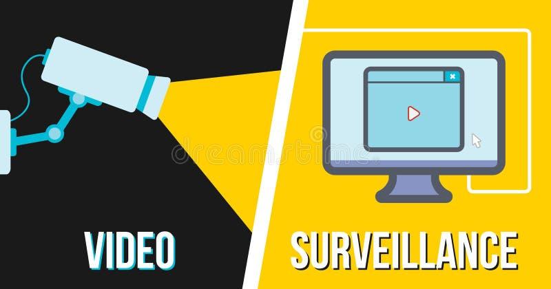 Video bevakning stock illustrationer