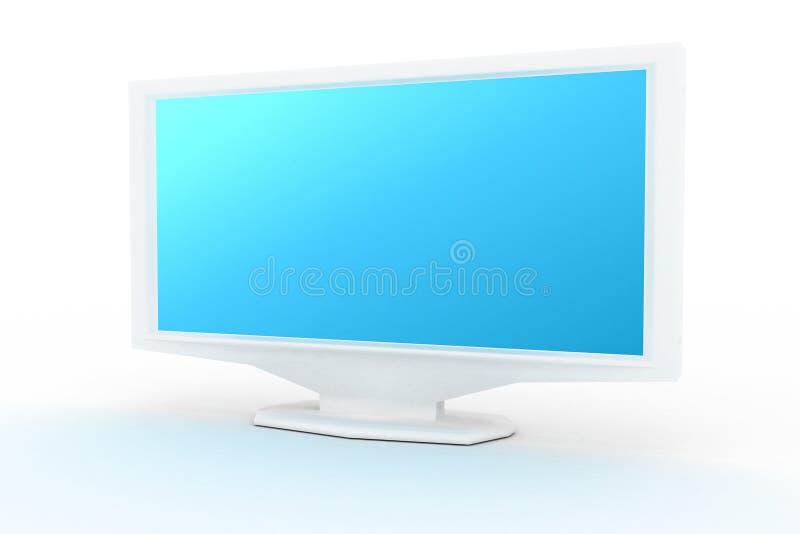 Monitor bianco con tonalità blu
