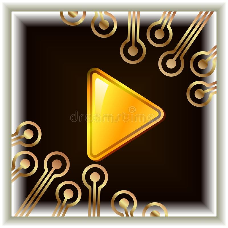 The Video Button Royalty Free Stock Photos