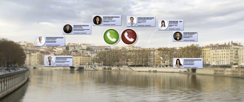 Video call in Lyon royalty free stock photos