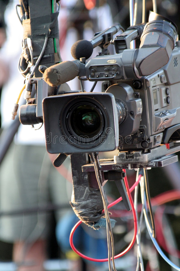 Video camera. For news tv broadcasting royalty free stock image
