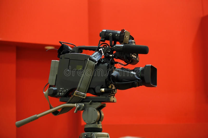 Video camera. Semi-professional Digital Video Camera is waiting for action stock photos