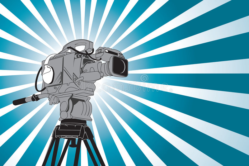 Video camera. In vector style