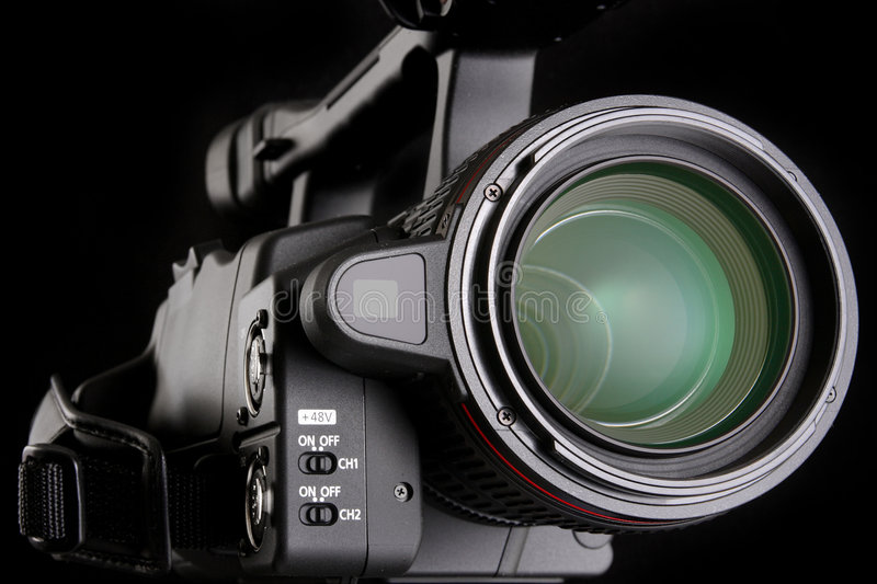 Download Video camera stock image. Image of glass, isolated, reflection - 7964873
