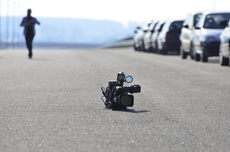 Video Camera On Asphalt Road Free Public Domain Cc0 Image