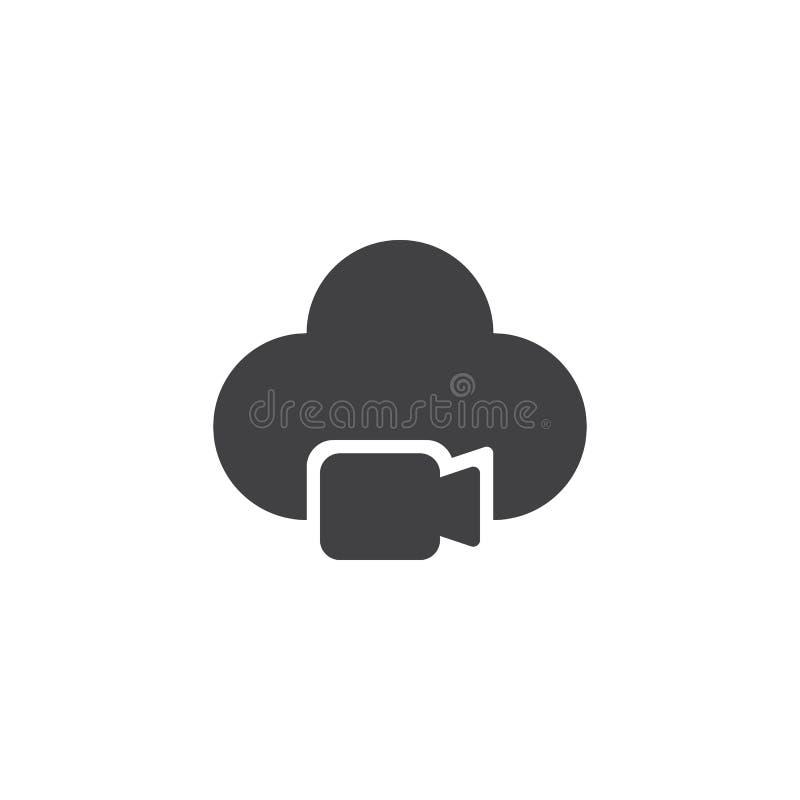 Video camera cloud vector icon stock illustration