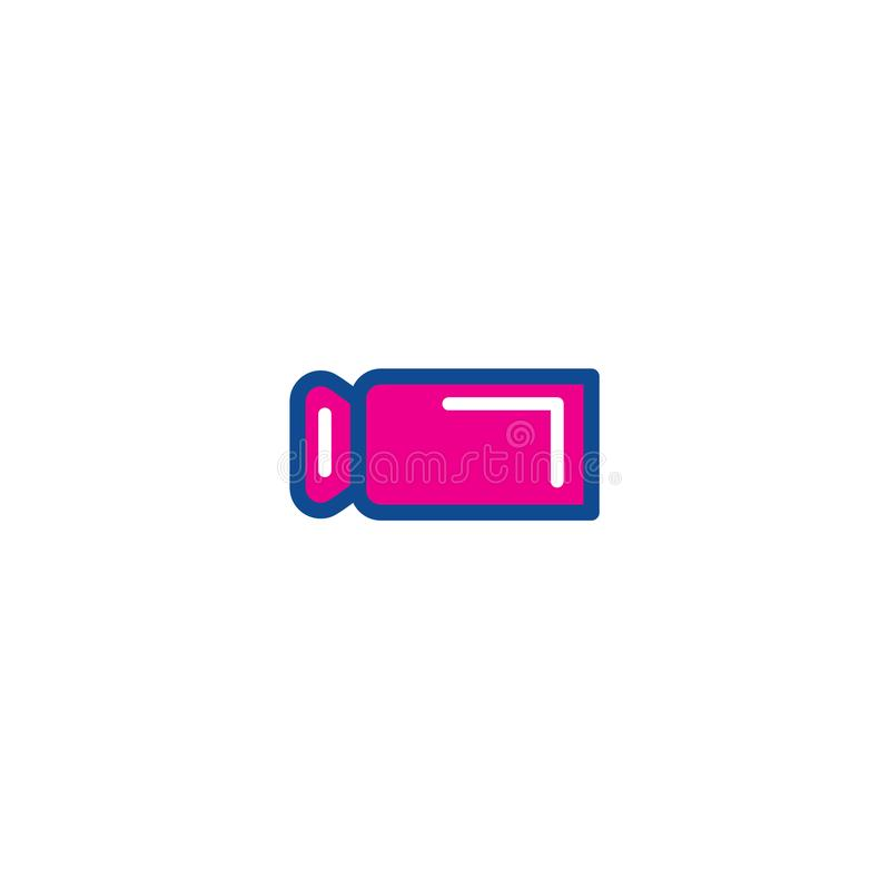 Video camera color thin line icons. Icon for web and user interfaces vector illustration