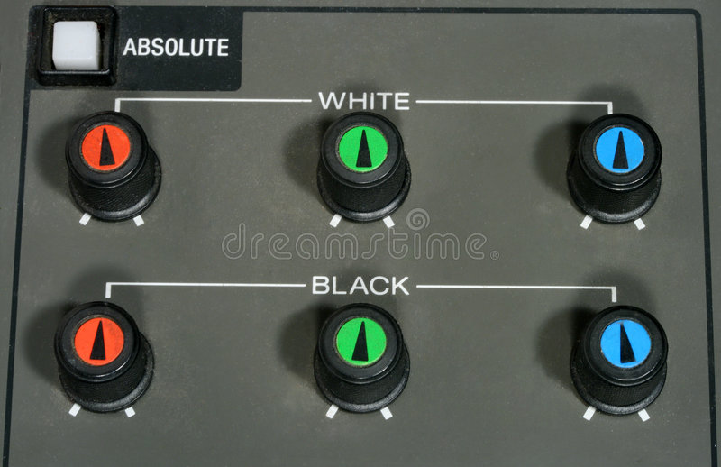 Video Camera Control Panel royalty free stock photography